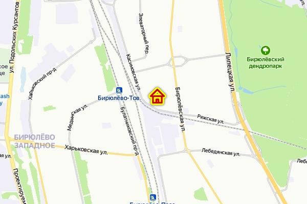 Дом по реновации в р-не Бирюлево Восточное на карте Москвы