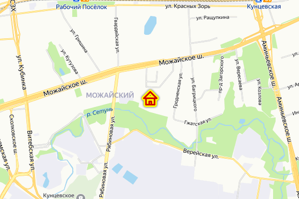 Дом по реновации в Можайском районе на карте Москвы