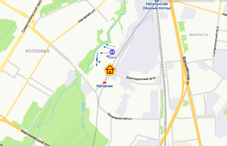 Дом по реновации в Нагорном районе на карте