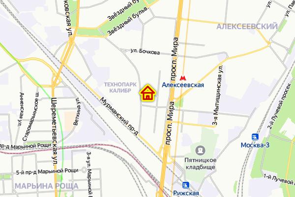 Дом по реновации в Останкинском районе на карте