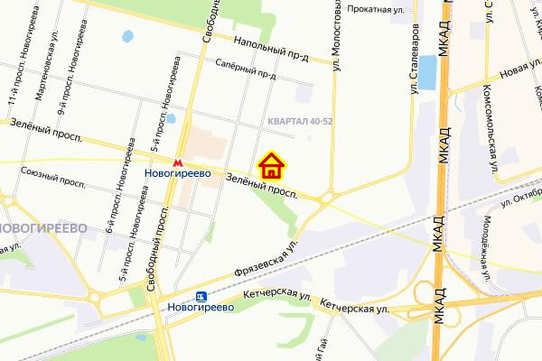 Дом по реновации в районе Ивановское на карте