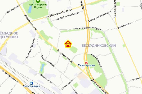 Дом по реновации в Бескудниковском районе на карте