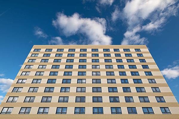 Фасад дома ЖК «Кронштадтский 9»