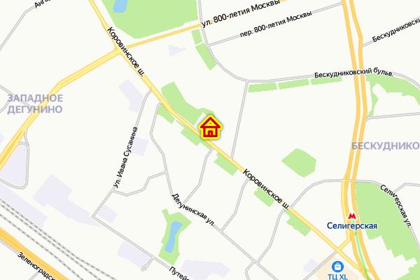 Место дома по реновации в Бескудниковском районе
