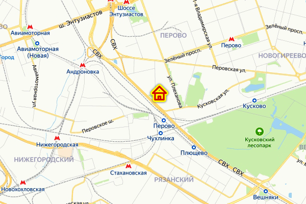 Место дома по реновации на ул. Плющева в Перово