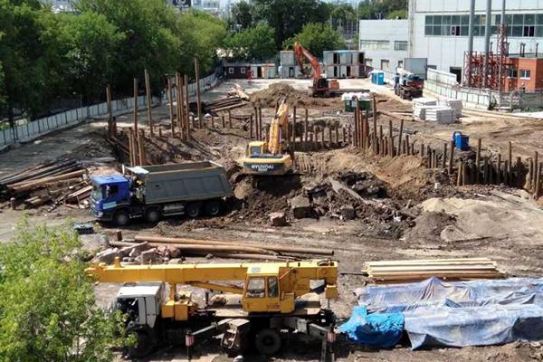 Строительство апарт-комплекса в Сокольниках