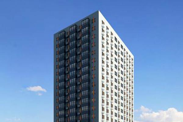 Жилой комплекс с белым фасадом