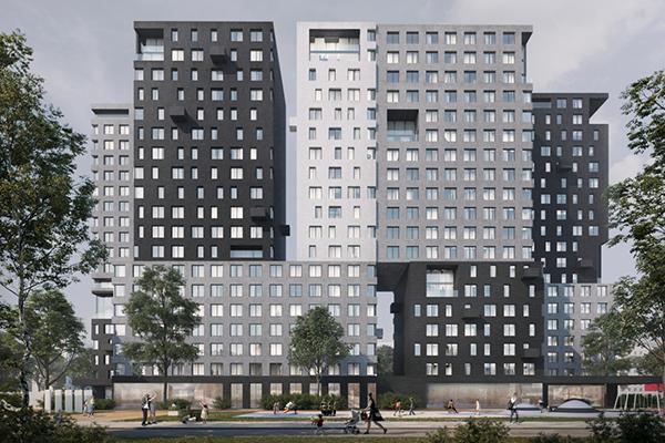 Жилой комплекс в стиле модернизма в ВАО Москвы