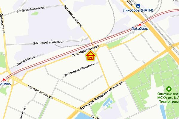 ЖК по реновации в р-не Коптево САО Москвы на карте